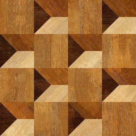 Patrón paneles Fondo inconsútil abstracto - textura de madera