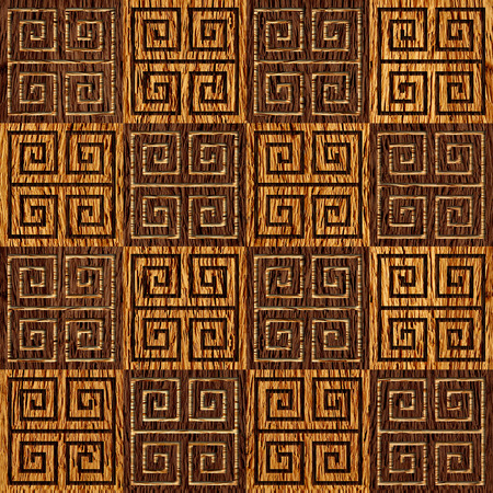 Abstract paneling pattern - seamless background - wood texture