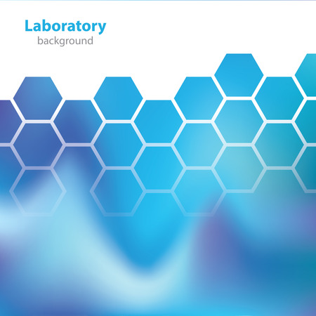 deoxyribose: Science and Research - laboratory blue background