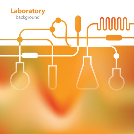 research facilities: Science and Research - laboratory facilities - orange background