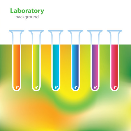 deoxyribose: Science and Research - laboratory facilities - colored tubes Illustration