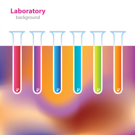 research facilities: Science and Research - laboratory facilities - colored tubes Illustration