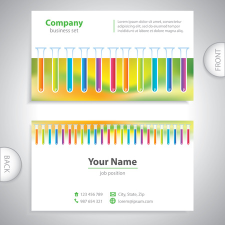 pharmaceutical company: business card - science and research - laboratory research