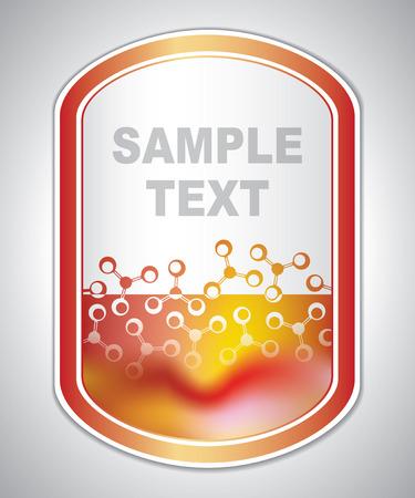 atomic: marking label - laboratory sticker - abstract background Illustration