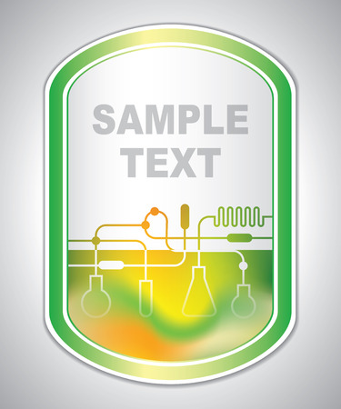 tagging: marking label - laboratory tagging - abstract background Illustration