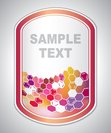 laboratory label: marking label - laboratory sticker - abstract background Illustration