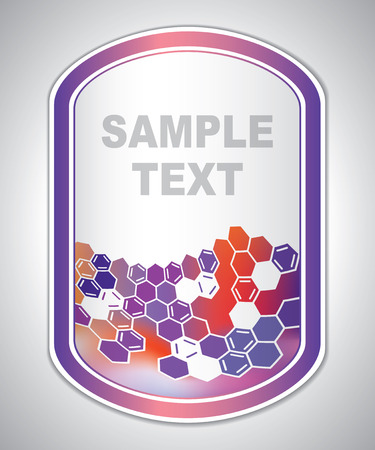 marking label - laboratory tagging - abstract background Illustration
