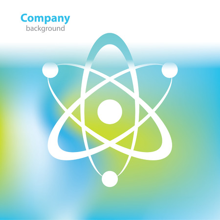 atomic symbol: Abstract colorful background - atomic symbol - Science and research Illustration