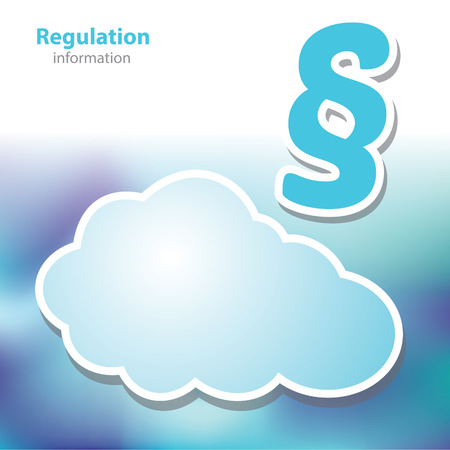 decree: information boards - regulation - decree - symbol cloud - blank background