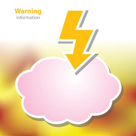 measures: information boards - symbol flash - warning zone - blank background Illustration