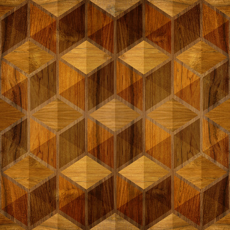 veneer: Abstract checkered pattern - seamless background - wood paneling Stock Photo