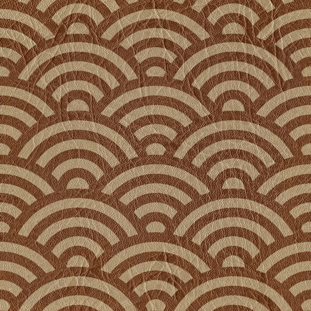 fronds: Abstract arched pattern - seamless background - leather surface