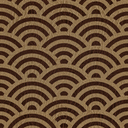 padded: Abstract arched pattern - seamless background - leather surface