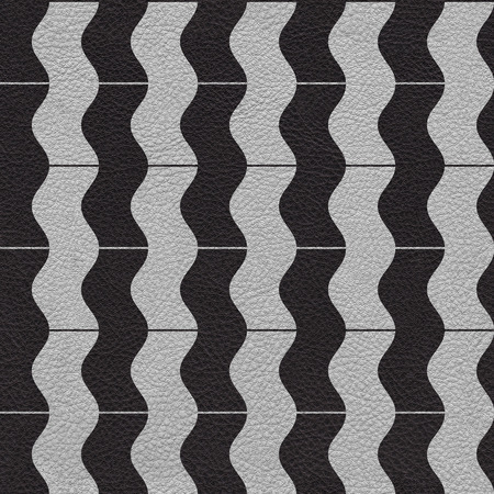 zag: vintage zig zag pattern - seamless background - leather surface Stock Photo