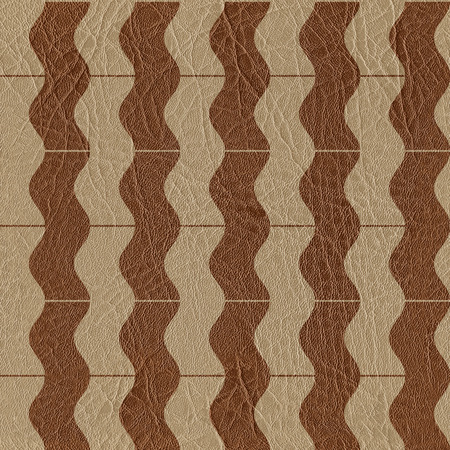 padded: Abstract wavy pattern - seamless background - leather surface Stock Photo