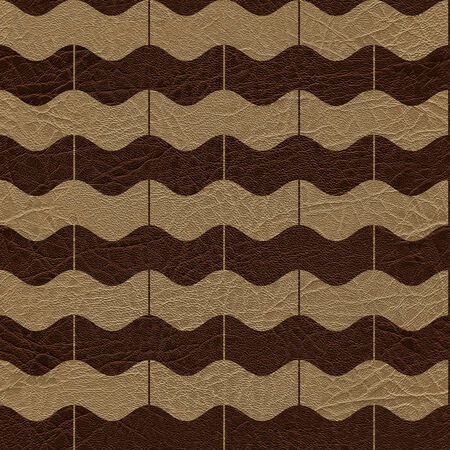padded: Abstract zig zag pattern - seamless background - leather surface Stock Photo