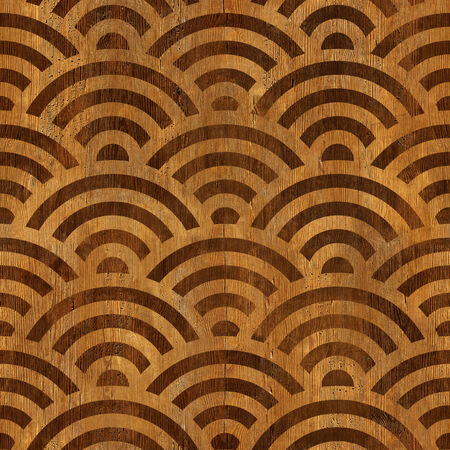 arched: Abstract arched pattern - seamless background - wooden surface