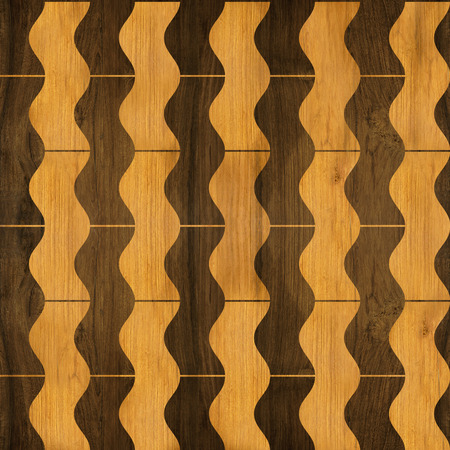 flooring: Abstract winding pattern - seamless pattern - parquet flooring Stock Photo