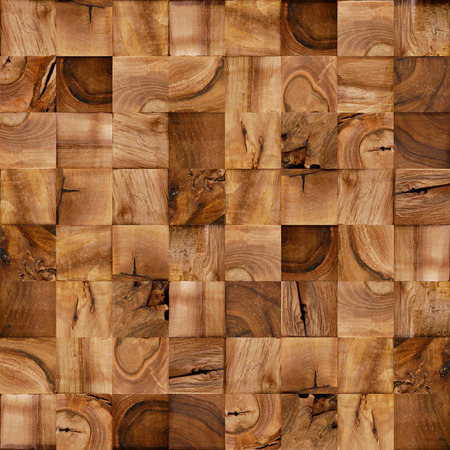 veneer: Abstract wooden blocks - seamless background - checkered lining