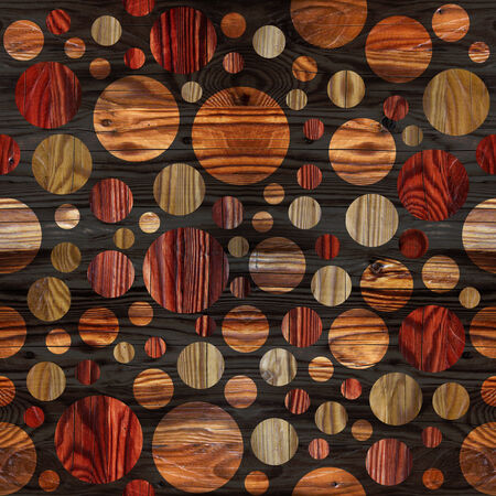 veneer: Abstract bubble pattern - different colors - wooden background