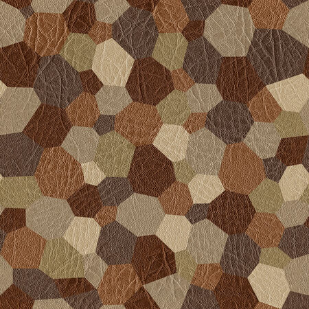 messy room: Abstract paneling pattern - seamless background - leather texture