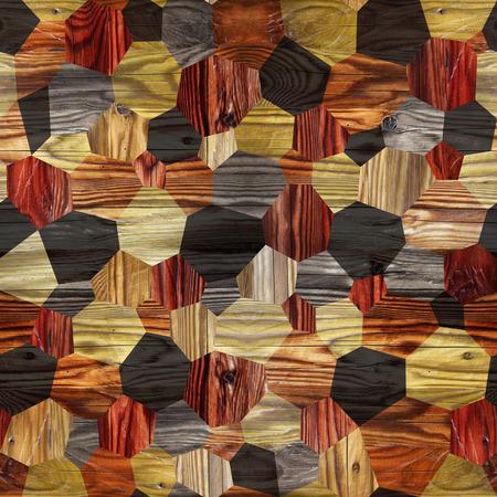 Abstract paneling pattern - seamless background - hardwood paneling Stock Photo