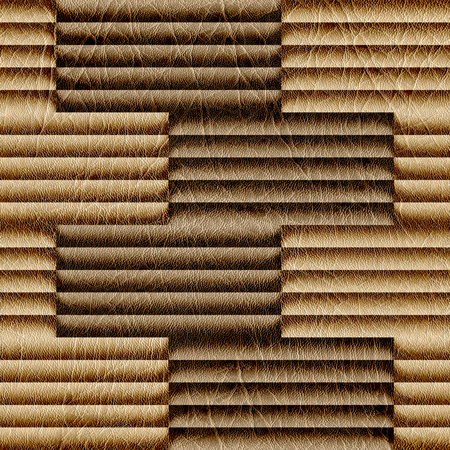 louver boards: Abstract decorative paneling - seamless background - leather texture Stock Photo