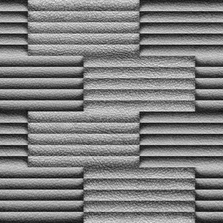 louver boards: Abstract decorative paneling - seamless background - structural damage Stock Photo