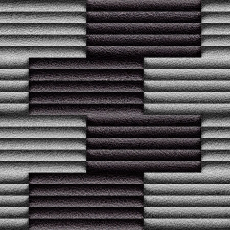 louver boards: Abstract decorative paneling - seamless background - leather surface Stock Photo
