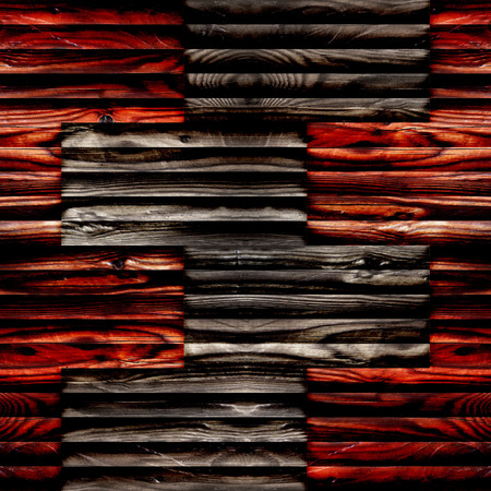 louver boards: Abstract paneling pattern - seamless background - wooden surface