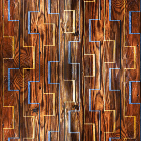 veneer: Abstract zig zag pattern - seamless background - wooden surface