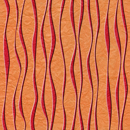 Abstract decorative paneling - seamless background - waves decor - paper texture
