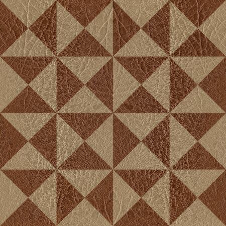 textur: Abstract triangle pattern - seamless background - leather textur Stock Photo