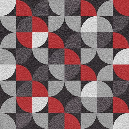 leatherette: Abstract paneling pattern - seamless background - leatherette texture