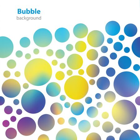 refreshes: Abstract bubble pattern - business card - blank background Illustration