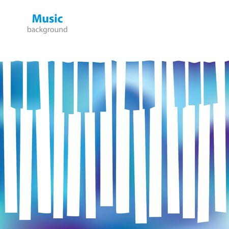 acoustically: Abstract musical piano keys - business card - blank background