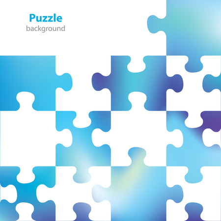 book jacket: Abstract puzzle background - business card - blank background