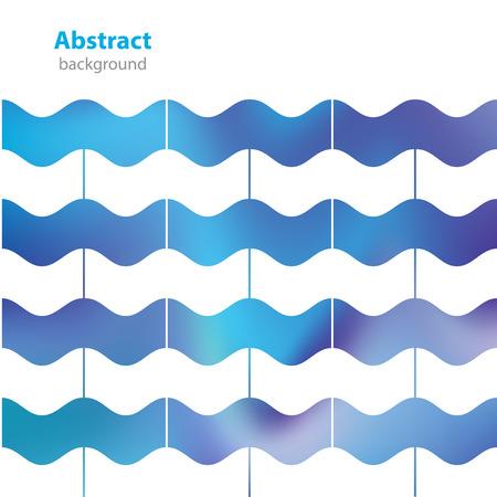textur: abstract decorative label - different colors - waves textur