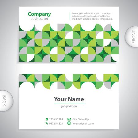 poner atencion: tarjeta de visita universales - formas geom�tricas