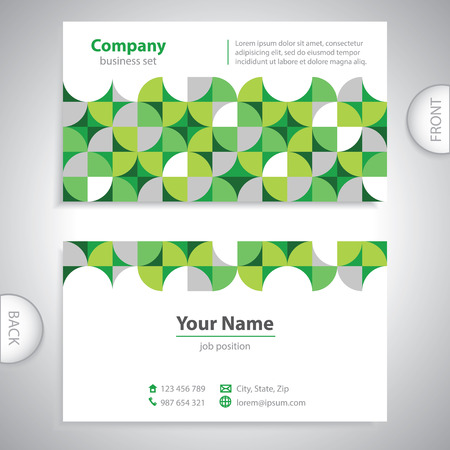 pay attention: universal business card - geometric shapes