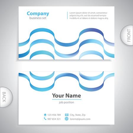 poner atencion: tarjeta de visita universales - ondas textur
