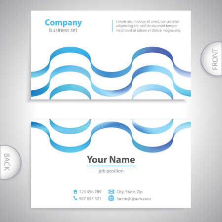 pay attention: universal business card - waves textur