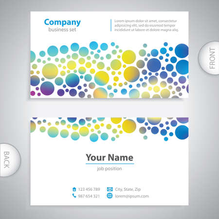 book jacket: business card - Abstract bubble pattern - company presentations