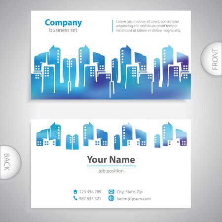 business card - Abstract cities silhouette - company presentations