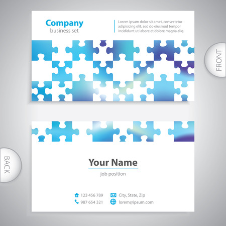 book jacket: business card - abstract puzzle background - company presentations