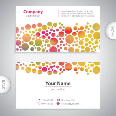 book jacket: business card - Abstract circular pattern - company presentations