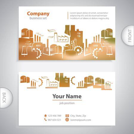 batiment industriel: carte de visite - R�sum� B�timent industriel - pr�sentations d'entreprise Illustration