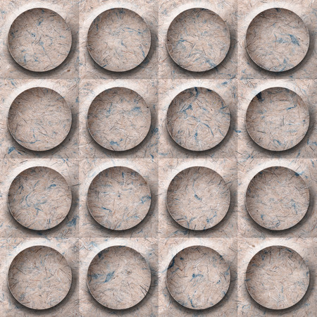handmade paper: Abstract paneling pattern - seamless background - button pattern - Handmade paper