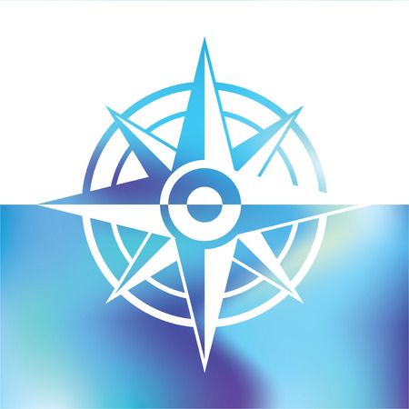 geocaching: Wind rose symbol - marine Equipment Illustration