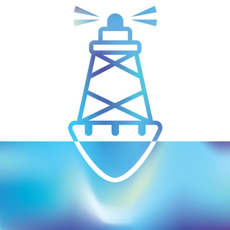 buoyancy: Sea buoys - marine buoy - maritime symbols Illustration